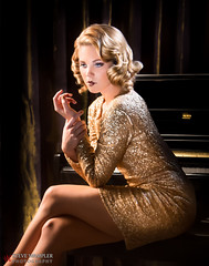 Miss Ritz (Steve Wampler Photography) Tags: 1920s gold team dress mashup piano ritz miss 1920 20s speakeasy afw 2013