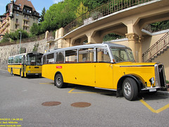 1951 Saurer L4C and 1982 Saurer RH 525-23 (busdude) Tags: bus switzerland post swiss ag postauto buse postbus saurer