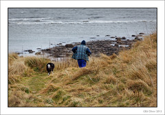 One Man and His Dog (Seven_Wishes) Tags: windy northumberland coastal dogwalker hauxley northeastcoastline canonef100400mmf4556lis canoneos5dmarkiii