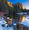 Old Snow in Yosemite (mojo2u) Tags: california snow sunrise nationalpark valley yosemite elcapitan mercedriver dirtysnow 2470mm nikond800