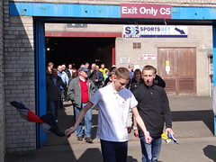 Cardiff Fans Leaving Turf Moor (joncandy) Tags: new city red promotion photo football championship image stadium soccer cardiff picture kit moor premier turf league champions bluebirds premiership burnley ccfc joncandy