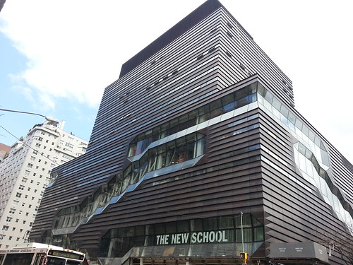 The New School university center by Skidmore Owings Merrill in NYC.