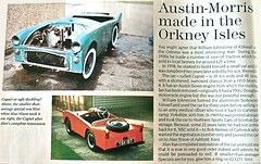 Cygnet - Orkney Islands (Scharroo's Grab Bag) Tags: auto car vintage orkney automobile cygnet article microcar