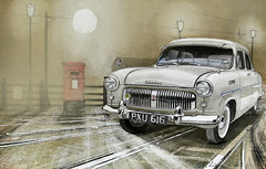 To Tell you what tonight will Bring (artandfurniture2012) Tags: nottingham moon classic cars ford car fog illustration painting landscape drawing paintings drawings canals classics watercolour moonlight british watercolours moonriver britishcars consul downtheroad watercolourpainting modernpainters cardrawing carpainting watercolourspaintings waterysun automotiveart landscapeartists watercolourists httpstheartonlinegallerycomartistjohnlowerson johnlowerson johnlowersonart paintingsofbritishcars johnlowersonwatercolours httpwwwsaatchionlinecomprofilesportfolioid349670 artandfurniture watercolourartists landscapewatercolourart httpwwwphoto4mecomjohnlowersonart