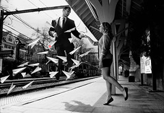 Paperman (Liljackslade8) Tags: love fly hands kiss disney trainstation float paperman paperplane