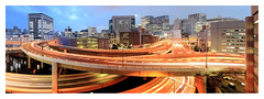 Highway Carousel Tokyo (kbaranowski) Tags: city longexposure bridge urban japan canon tokyo town highway cityscape nightshot autobahn junction autopista nihonbashi expressway urbanjungle townscape afterdark tokio marunouchi edobashi megapolis citynight lightstream megacity nightimage urbanasia citypanorama elevatedexpressway tokyomarunouchi 5dii marunouchiskyline tse24ii edobashijct marunouchiskyscrapers nihonbashijct gettyimagesjapan13q2 expresswayjunction