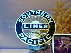 Southern Pacific Lines (ibison4) Tags: california station sign train trainstation paloalto southernpacificlines paloaltotrainstation