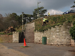 DSCF2095_small (Paul Russell99) Tags: workers cone steps litter bournemouth hivis