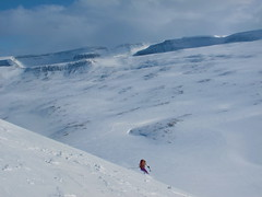 Skiing in Isafjordour, Iceland