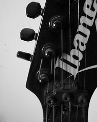 Merlin's guitar (silvermixx2012) Tags: music black electric guitar instrument string ibanez