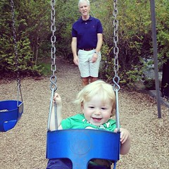 Caleb really enjoying the swing (for the first time) with granddaddy! (Adam Walker Cleaveland) Tags: valencia square squareformat iphoneography instagramapp uploaded:by=instagram foursquare:venue=4ada4ef8f964a520322121e3