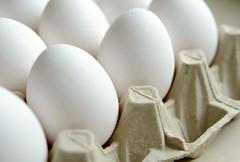 Eggshell white (balu51) Tags: white kitchen beige cream eggs april 60mm weiss eggcarton eier sidelight 2013 eierschachtel 365d copyrightbalu51 playfairaskbeforeusingmyphotos