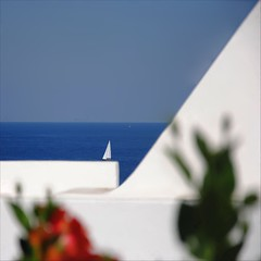 angles of sea (s@brina) Tags: travel flowers blue sea sky white triangles focus sailing angles sicily panarea