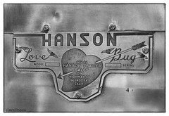 Hanson Love Bug (GwenDeanne) Tags: california vintage advertising fly heart tag denver co trailer camper hanson lovebug glendora 2013 heartwithwings sisterssisters