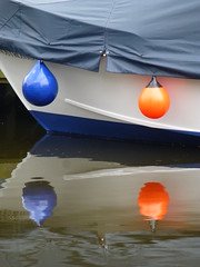 Blue & Orange Buoys (Gilder Kate) Tags: blue orange reflections buoys buoyant unlimitedphotos richmonduponthamesrichmondsurreysummerriverthamestowpath