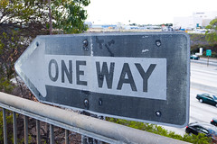One Way (jbp274) Tags: road dirty longbeach signage lgb oneway klgb grimy