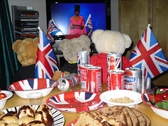 Eurovision 2013 - Believe in Bonnie! (pefkosmad) Tags: party music food salad sweden song tomatoes contest nuts peanuts coke flags chips lostcause tyler pizza drinks teddybear singer bonnie cocacola buffet eurovisionsongcontest malmo sausagerolls fingerfood pimms profiteroles chickensatay barabrith unionflags watchtv cornishpasties canneddrinks believeinme gingernutt dutchapplecake nobbynomates tedricstudmuffin eurovision2013 nonalcoholiclager notasnowballschanceinhell