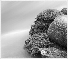 Water Feature (2) (spodzone) Tags: longexposure blackandwhite panorama motion art nature wet water closeup composite composition manipulated photography scotland moss flora rocks message dynamic emotion stones space places calm equipment story negativespace filter zen dreamy serene flowing areas submerged toned pure contrasts portpatrick minimalist tranquil stacked elegance existentialist dumfriesandgalloway hugin digikam rockwater landwater shapeandform rawconversion hardsoft sharpsoft enfuse naturehappens statesofwater darktable photivo abstractqualities motionstationary mankindnature satoripunctum digitallowpass