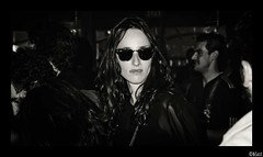 blast (BlackStones707) Tags: paris girl glasses blackwhite bloc cabaretsauvage nikond5100