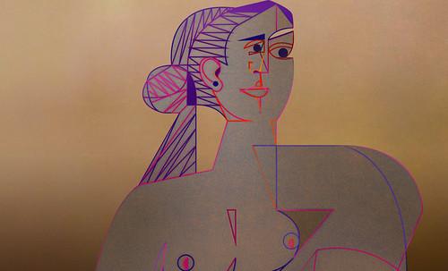 "Mujer Sentada, geometrización de Pablo Picasso (1953), abstracción de Roberto Real de León (2013). • <a style=""font-size:0.8em;"" href=""http://www.flickr.com/photos/30735181@N00/8805348105/"" target=""_blank"">View on Flickr</a>"