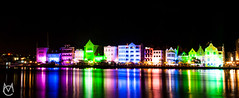 Handelskade at Night (X-Mas Season) (Marc Castillo) Tags: curacao curaao atnight willemstad handelskade punda korsou korsow corsow