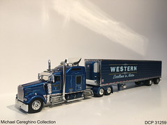 Diecast replica of Western Distributing Kenworth W900, DCP 31259 (Michael Cereghino (Avsfan118)) Tags: diecast die cast promotions promotion 164 scale model replica toy truck semi kenworth w900 reefer spread axle western distributing dist transportation trans corp corporation wdtc