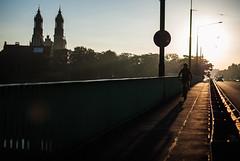 bridges (ewitsoe) Tags: nikon d80 35mm street bridge poznan poalnd bike sunrise ewitsoe sun summer city life ride cityscape urban poland polska