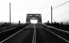Lost In The Fog (John Westrock) Tags: road blackandwhite fog foggy bridge carnation pacificnorthwest washington canoneos5dmarkiii canonef2470mmf28lusm