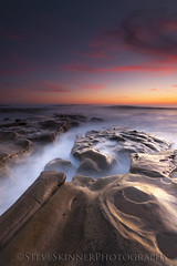 Filling The Cracks (sjs61) Tags: sjs61 steveskinnerphotography steveskinner surf sunsets seascape slowexposure reflections reflectedlight waves whitewaterflow landscapes lajolla hospitalsreef longexposure