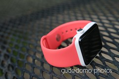 Ceramic Apple Watch with Salmon Pink Sport Band (gudedomo) Tags: apple ceramic watch applewatch white edition watchband band wrist accessory color combination red product 2016 orange yellow mint green bright pink salmon stand blue baby turquoise navy ocean midnight cocoa mocha nylon metal strap link bracelet milanese loop hermes leather cloud lime light black brown silver tour single