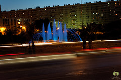 Fontaine lumineuse (Ath Salem) Tags: alger algiers algrie algeria afrique du nord baie nuit night lights lumires highway autoroute coucher de soleil sunset fontaine         mohammadia