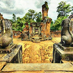 East Mebon (wkwoo) Tags: eastmebon angkorarchaeologypark unescoworldheritagesite angkor siemreap cambodia stonelion prisma ruins temple