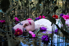 Flowers in the water (alextroshenkov) Tags: canon world work water girl russia barnaul siberia summer face flower flowers 60d eyes life photo picture portrait portret