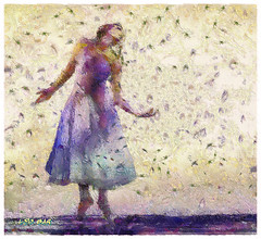Dancing in the rain (Leo Bar) Tags: dance danza digitalart painting pixinmotion leobar textures pintura arte artwork moderndance colors compositing creative artdigital awardtree