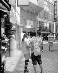 (deep convection) (Dinasty_Oomae) Tags: mamiya6 6 mamiya6k 6k 6x6   blackandwhite blackwhite monochrome bw outdoor  tokyo  shibuyaku shibuya  shibuyacenterstreet  lovers