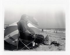 Silver Strand, CA (moominsean) Tags: polaroid 190 instant fuji fp3000b california sandiego coronado silverstrand beach sleeping coppertone