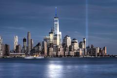 World Trade Center - 2016 Tribute in Lights (David Pirmann) Tags: worldtradecenter tributeinlights 911 wtc newyorkcity