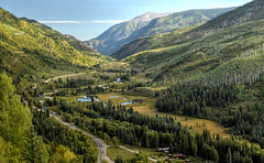 mountain valley in early autumn (SILBECL) Tags: colorado autumn landscape mountain valley crystalriver redstone marble placita mcclurepass