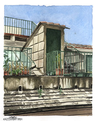 ardesia (Alessandro Ardy) Tags: genova watercolor roofs ardesia slate view