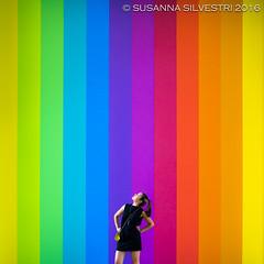 Looking for (Asahtsu) Tags: paris louis vuitton louisvuitton fondation rainbow colors colours peace symmetry
