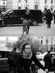 [La Mia Citt][Pedala] (Urca) Tags: milano italia 2016 bicicletta pedalare ciclista ritrattostradale portrait dittico bike bicycle biancoenero blackandwhite bn bw 89124