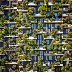Vertical Forest (Paul Brouns) Tags: verticale bosco design decoration art lifestyle summer life levels rhythm balconies balcony city green paulbrouns paulbrounscom brouns paul detail square straight facade building architecture geometry itali italy italia milaan milano milan urban trees forest verical future ecology environment optimism happy happiness