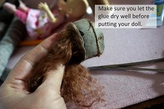 Glue hem ( ResinMuse ) Tags: make fur wig mohair howto tutorial nopattern patternless