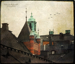 Beautiful Tower (Kerstin Frank art) Tags: windows texture buildings roofs distressedjewell lesbrumes kerstinfrankart kerstinfranktexture lenabemanna