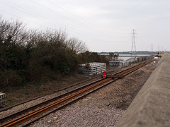 New Loughor railway bridge 1st April 2013 (12) (Gareth Lovering) Tags: bridge water swansea wales night river landscape group railway trains olympus llanelli user omd lovering networkrail loughor em5 oowug