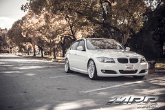 BMW_E90_MRR_GT7_WHEELS_06 (MRR WHEELS) Tags: white silver wheels bmw hyper hs concave bimmer mrr e90 gt7 335i