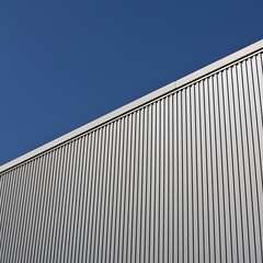 needle stripe (itawtitaw) Tags: blue roof light sky abstract lines japan architecture square kyoto bluesky line clear minimalist divided kyotostation sigma30mm14 canoneos60d