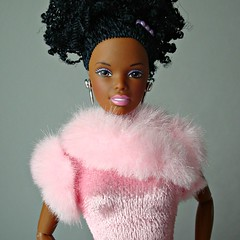 Nichelle (Deejay Bafaroy) Tags: pink party portrait black girl closeup dance doll dolls afro barbie rosa portrt generation mattel aa nichelle