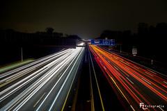 Kölner Autobahnring  bei Nacht