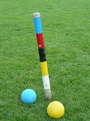 Risqu Croquet?(4) (redpopcreative) Tags: summer grass traditional colonial balls games british croquet spheres establishment aliceinwonderland lewiscarroll damncool risqu croquetmallet traditionalsport vintagegames traditionalgames britishestablishment colonialpastimes gamesongrass